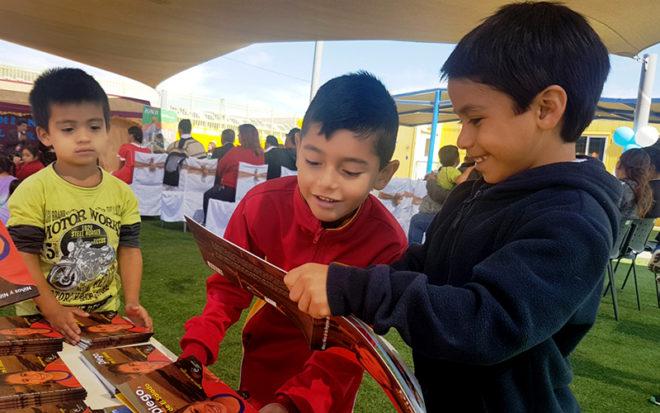 La actividad se realizó junto a toda la comunidad y se enmarcó en la conmemoración del mes del libro.