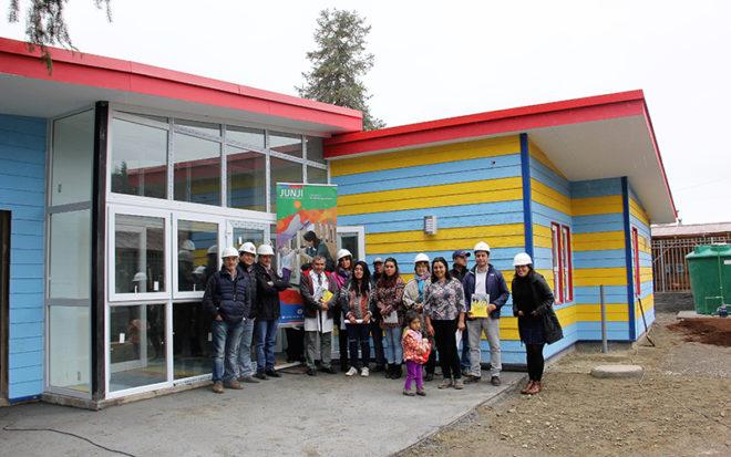 El futuro recinto de educación parvularia presenta un 81% de avance en sus obras.