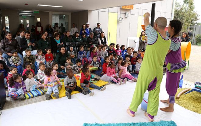 La actividad oficial de la Dirección Nacional se celebró con la inauguración del Jardín Infantil Quilicura y una obra de teatro infantil para los párvulos.