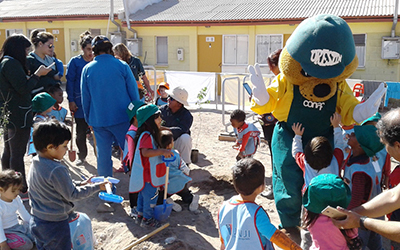 """La directora del Jardín Infantil """"Blanca Nieves"""", Elena Bugueño, destacó la participación de toda la comunidad educativa del jardín infantil y expresó la importancia que tienen estas experiencias educativas para los niños y niñas."""