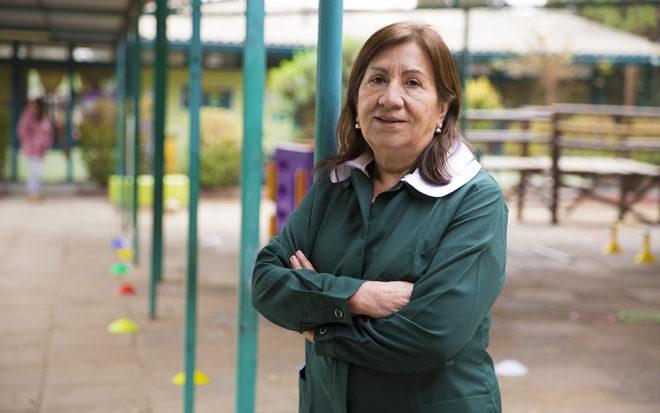 """Sylvia Terrazas: """"Una como educadora no se detiene nunca, siempre va por más y más en pro de las niñas y niños"""""""