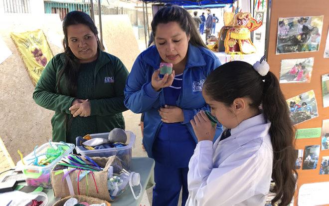"""En la actividad, el Jardín Infantil """"Capullito"""" dio a conocer su trabajo en materia de alimentación saludable, actividad física, medio ambiente, lactancia materna, salud bucal y prevención de riesgos."""