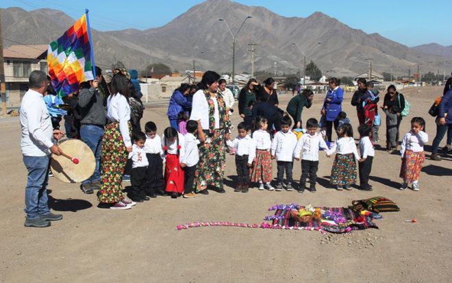 """La ceremonia denominada """"Wata Mosoj"""", característico de la etnia Colla, reunió a la comunidad cercana al establecimiento."""