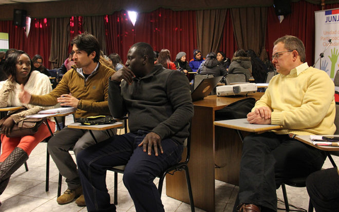 Una exitosa convocatoria, con decenas de extranjeros provenientes Haití, Venezuela, Colombia, Argentina y Perú, tuvo este segundo dialogo de inmigrantes organizado por la Coordinación Provincial de la JUNJI Biobío.