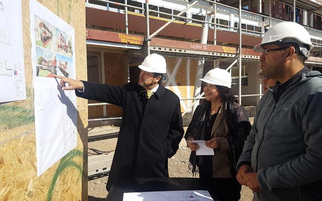 Tres de ellos recibieron una visita inspectiva encabezada por el gobernador del Limarí Darío Molina y la directora regional de la JUNJI Coquimbo, Maria Angélica Romero.