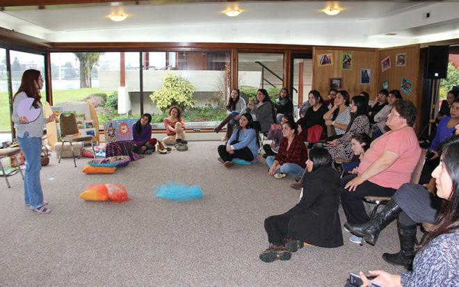 Los equipos de aula se mostraron muy animados durante la capacitación valorando el aporte de los conocimientos que recibieron para el quehacer educativo con los párvulos.