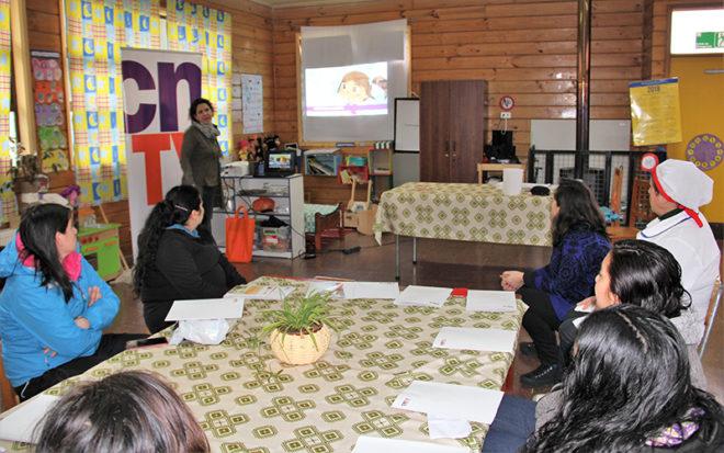 """Diálogo participativo realizado en el Jardín Infantil """"Kuyulkaman"""" tuvo como propósito analizar el consumo televisivo y la oferta programática de estos aparatos, especialmente orientada al público infantil."""