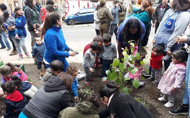 El espacio adaptado en el establecimiento, ubicado en el Cerro Cordillera de Valparaíso, les permitirá aprender sobre la importancia de cuidar su entorno.