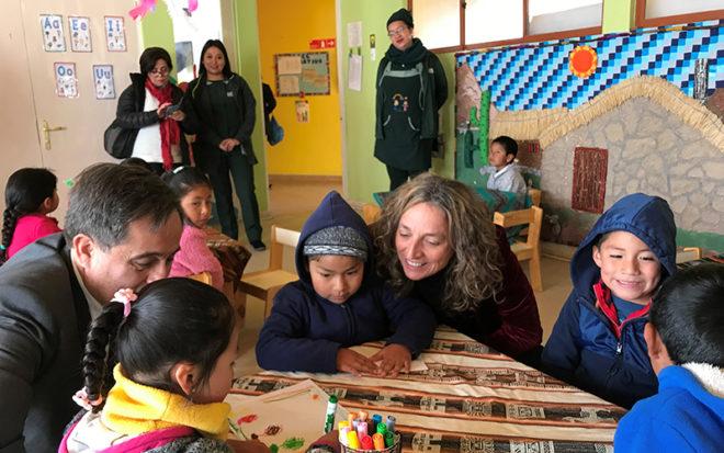 También participó en un conversatorio con académicos y estudiantes de AIEP, un encuentro de trabajo con la gerente social de Fundación Minera Escondida, Eugenia Camazón y en la Mesa Regional de Primera Infancia, entre otras actividades.