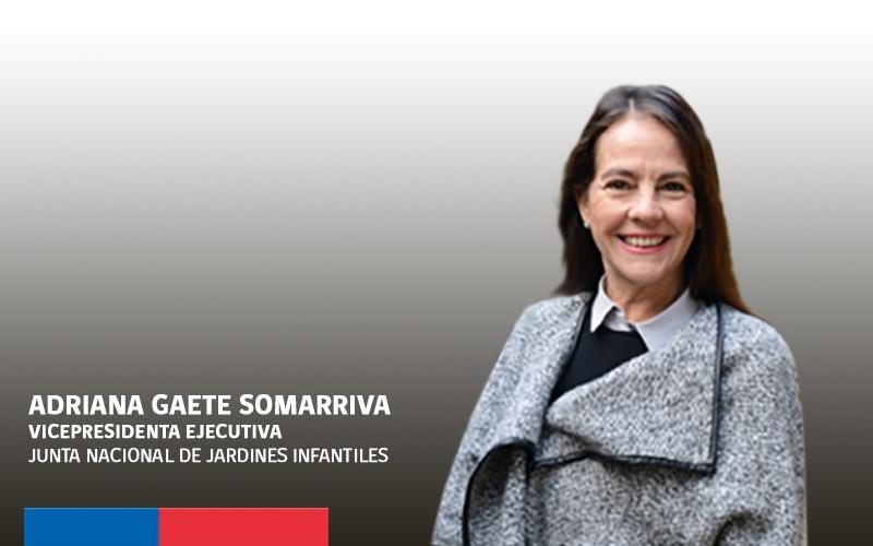 Adriana Gaete vicepresidenta ejecutiva de la JUNJI.