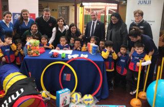 """Ministra del Deporte visitó Jardín Infantil """"Caracolito"""""""