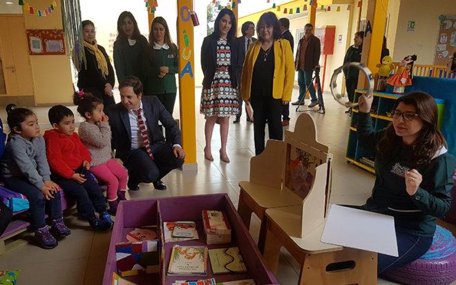 """Con una actividad realizada en un Jardín Infantil """"Valle de Encanto"""" de la JUNJI, en el sector de La Pampa en La Serena, se dio la partida en regiones al primer programa de fiscalización en este nivel educativo."""