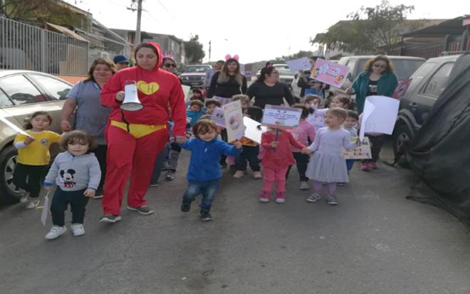 Actividades de la JUNJI Antofagasta, con motivo de la celebración del mes del niño y la niña, han estado vinculadas a la difusión de sus derechos.