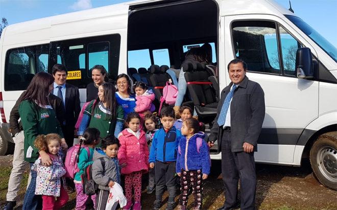 Esta iniciativa surge como una necesidad de las familias para facilitar el traslado de los niños que asisten al establecimiento que inició sus actividades en mayo de este año.