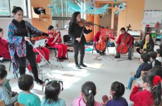 """Jardín Infantil """"Héroes del Sol"""" de Chiguayante promueve la música clásica en niños y niñas"""