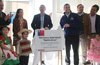 """Autoridades inauguran nuevo Jardín Infantil """"Rayitos de Luz"""" en Machalí"""