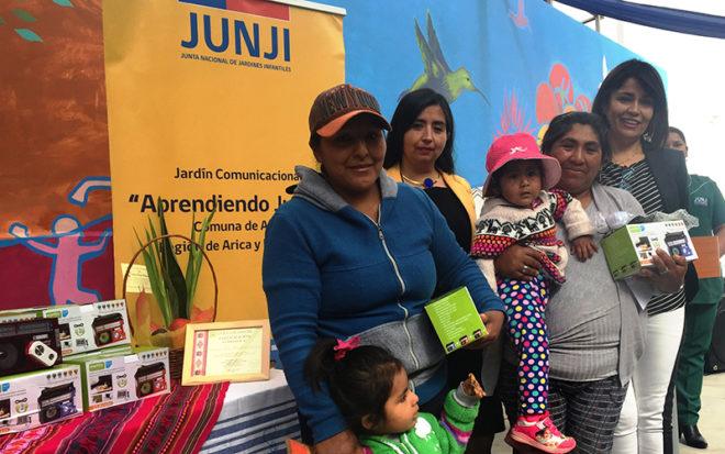 """Son parte del proyecto de innovación """"Wawa Yatiña Uta"""" (Educando en el Hogar), que ejecuta el Jardín Infantil comunicacional """"Aprendiendo Juntos"""" en la región."""
