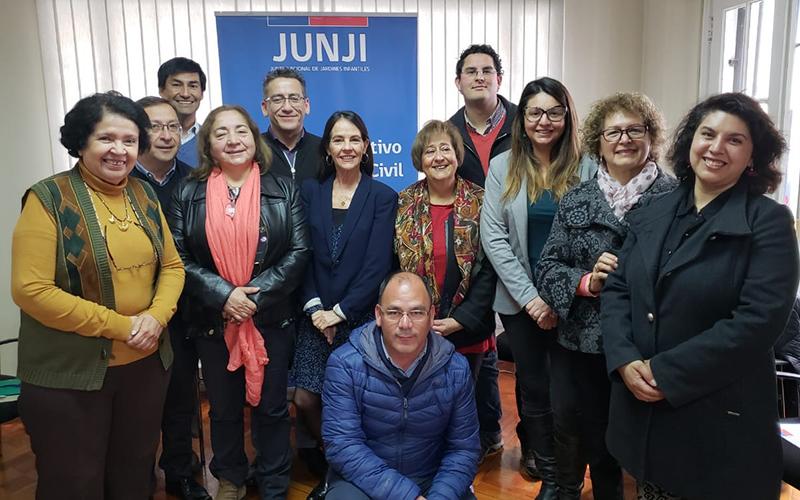 La máxima autoridad de la JUNJI aprovechó la instancia para conversar con los distintos organismos presentes y recoger sus planteamientos. Además, entidades de Atacama, Araucanía, Los Lagos y Aysén participaron activamente por videoconferencia.