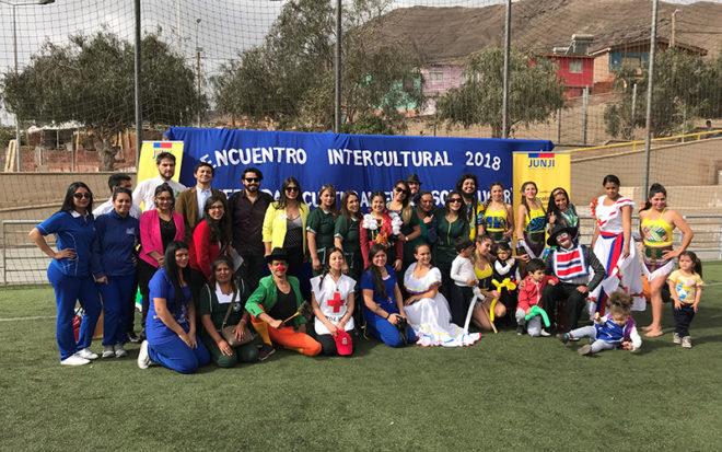La actividad, realizada en Antofagasta, tiene como finalidad promover la integración entre las familias chilenas y extranjeras.