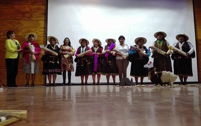 En Pozo Almonte se reunieron Educadoras en Lengua y Cultura Indígena, ELCI, para compartir experiencias educativas exitosas, en el marco de la enseñanza de las tradiciones del pueblo aymara a niños y niñas.