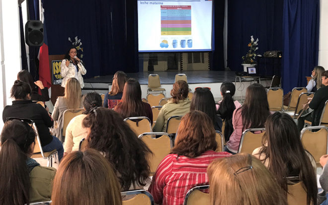 El encuentro concitó la intervención de variados especialistas entre matronas, nutricionistas, odontopediatras y abogados, además de la participación especial del doctor José Luis Zúñiga, magíster en nutrición pediátrica.