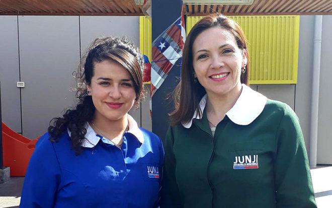 Educadoras y técnicas de la región Metropolitana listas para partir a Barcelona.