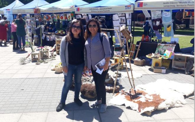 """El equipo de la región Metropolitana visitó los jardines infantiles """"We rayen de Budimallin"""" de Padre Las Casas, """"Rukakantun"""" de Freire, """"Meli rewe callipul"""" en Nueva Imperial y """"Pewen"""" en Melipeuco, además participó de una muestra cultural en la plaza de Temuco."""