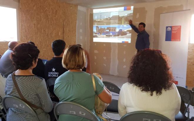 El arquitecto a cargo del proyecto Sebastián Crisosto, contó que la que construcción, que tiene un 40% de avance, tendrá una capacidad para 48 niños y niñas, en una sala cuna y un nivel medio.