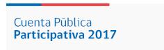 Cuenta Pública Participativa 2017