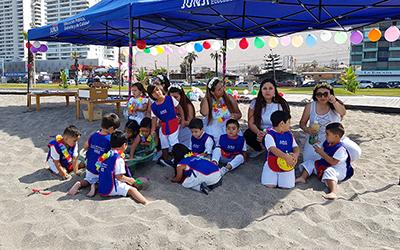 Al finalizar la jornada, los niños y niñas se reunieron con las familias y degustaron de un refrigerio saludable.