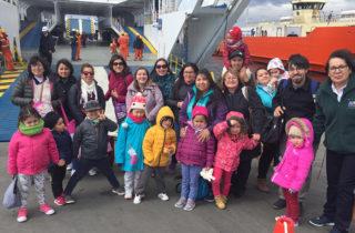 Párvulos de Porvenir realizaron inédita visita educativa a Punta Arenas