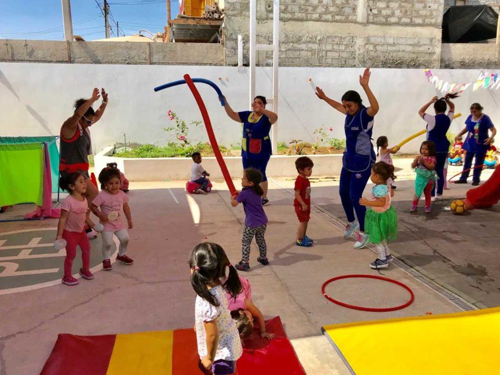 """Niñas y niños del jardín infantil """"El Oro"""" disfrutaron de una entretenida mañana recreativa"""