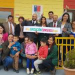 """La jornada convocó a autoridades y a la comunidad educativa del jardín infantil """"Cultivando Sueños y Alegrías"""", el que este 8 de marzo cumplió un año desde abrió las puertas a la comunidad."""