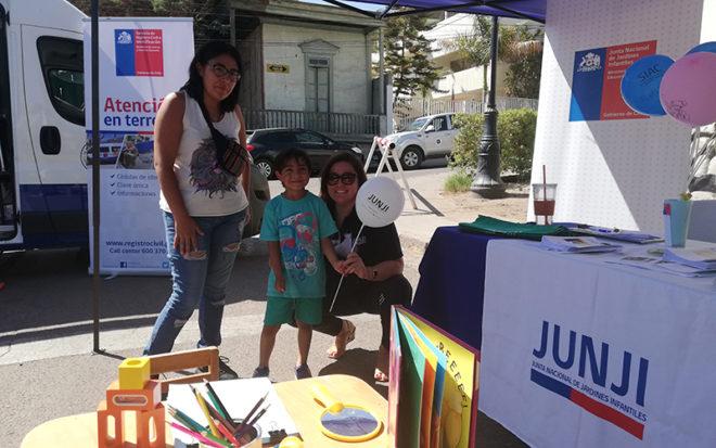 En la jornada se dio a conocer la oferta educativa que tienen los jardines infantiles de la Junji, que se encuentran distribuidos en cada una de las comunas de Tarapacá.