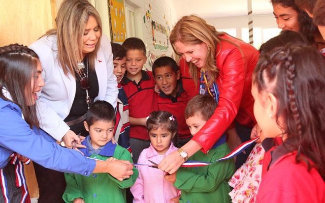 """El espacio educativo que funciona al interior de la escuela """"Los Bellotos"""" ofrece atención educativa de calidad a niños y niñas entres los dos y 5 años."""