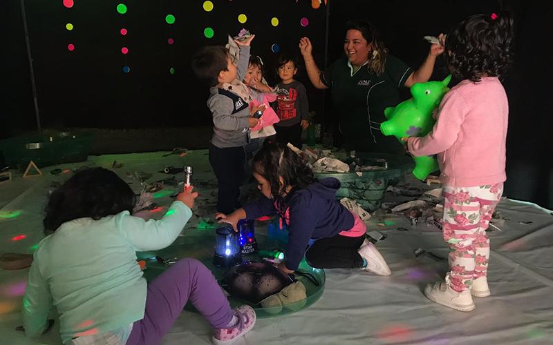 Variadas actividades realizaron los niños y niñas de la unidad educativa, todo enfocados en aprender mediante el juego, como herramienta principal de aprendizaje.