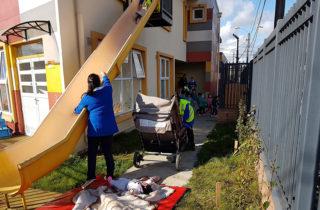 """Gran operativo de emergencia preventivo se realizó en el Jardín """"Alün Mawun"""""""