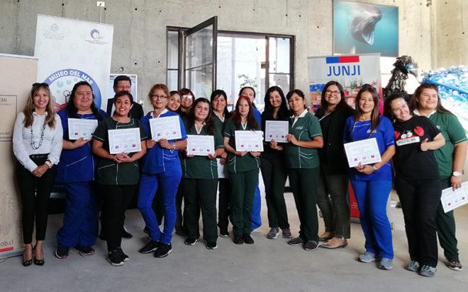 Las capacitaciones se realizaron en 7 módulos y fueron dirigidas por biólogos y docentes de la Universidad Arturo Prat, Unap.