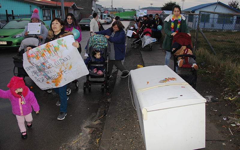 Un recorrido por las calles de Punta Arenas involucró también a madres, padres y apoderados, los equipos educativos y funcionarias y funcionarios de la Junji Magallanes.