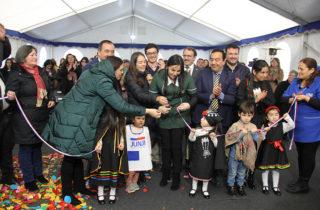 Vicepresidenta Ejecutiva Adriana Gaete inaugura nuevo jardín en Arauco para 48 niños