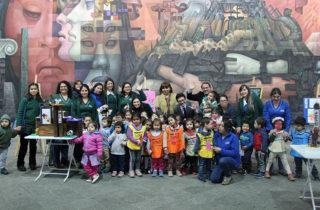 """Párvulos de Jardín """"Peumayen"""" exponen sus obras en Pinacoteca de la Universidad de Concepción"""