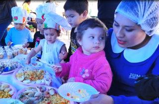 Dan a conocer la alimentación que se entrega en jardines infantiles
