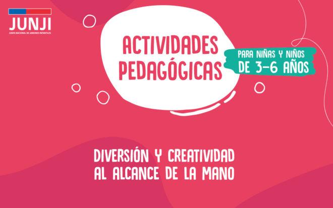 Actividades pedagógicas para realizar en casa 3 a 6 años