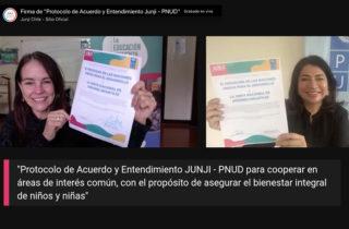 Junji y PNUD firman protocolo de acuerdo para cooperar en materias de desarrollo sostenible